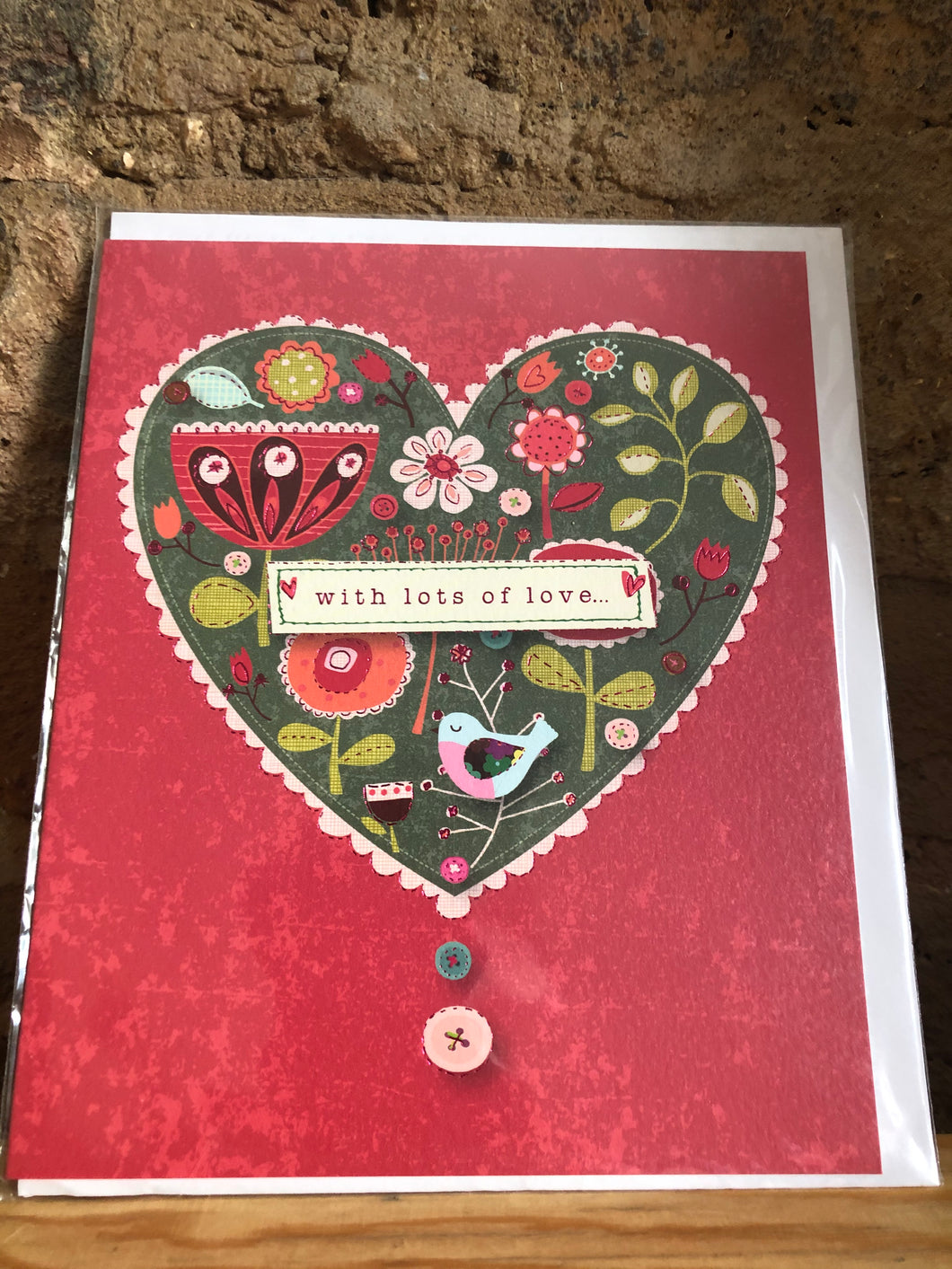 With Lots of Love Greeting Card