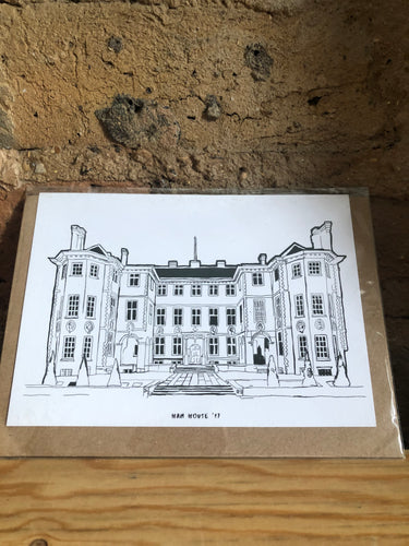 Ham House Twickenham Greeting Card