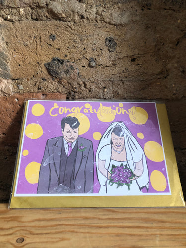 Peep Show Wedding Greeting Card