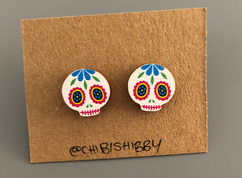 Sugar Skull Earrings - Miss Pretty London UK Limited