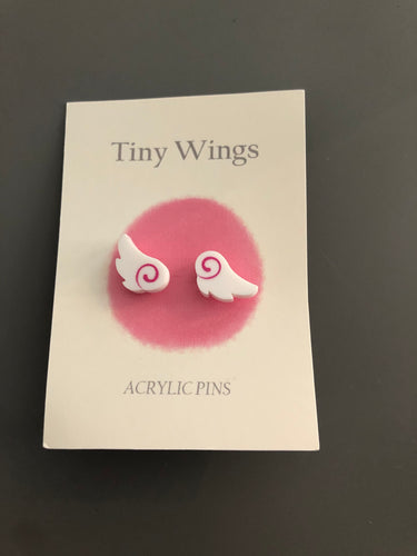 Tiny Wings Pin Set - Blue or Pink Available