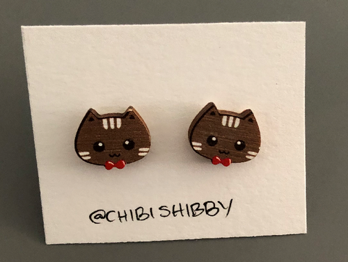 Cat Bow Tie Earrings