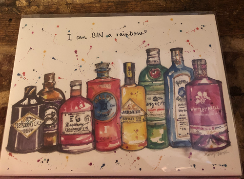 I Can Gin a Rainbow Print by Uk Designer Mary Darch