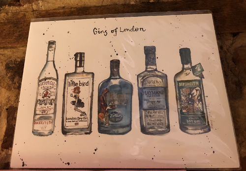 Gins of London Print by Uk Designer Mary Darch