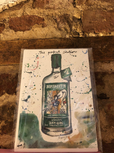 Sipsmith Print by Uk Designer Mary Darch