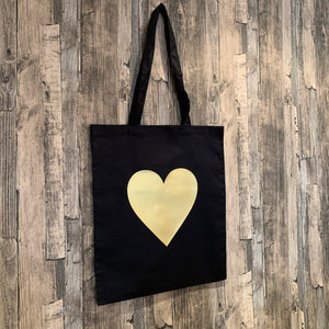 Heart Print Tote Bag