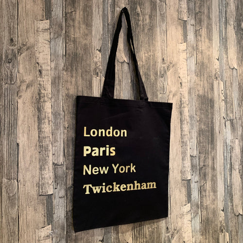 Place Names Print Tote Bag
