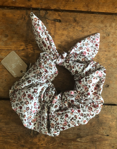 Red Ditsy Print Hair Scrunchie - Hey Babe