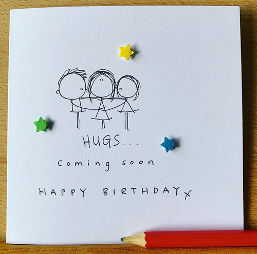 Hugs Coming Soon Birthday Greeting Card - WH004