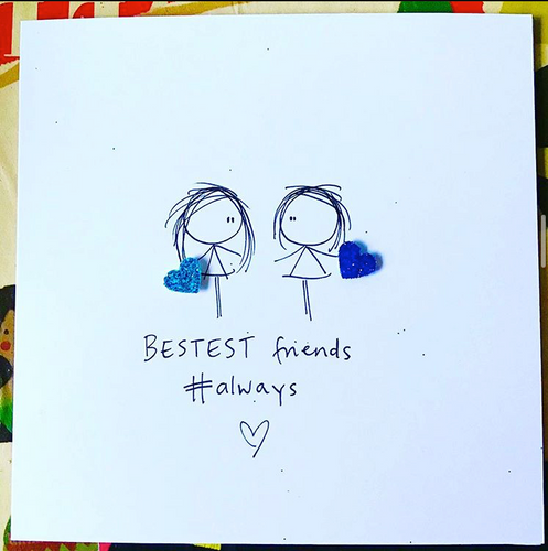 Bestest Friends Always Greeting Card