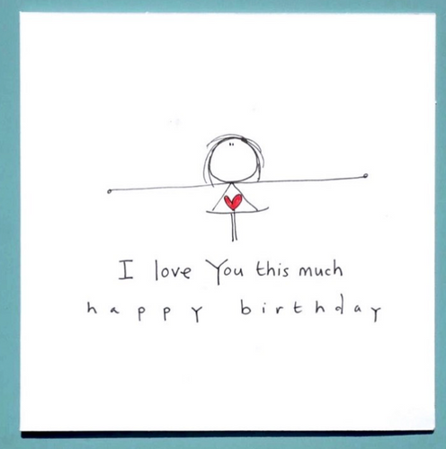 I Love you This Much Happy Birthday Greeting Card
