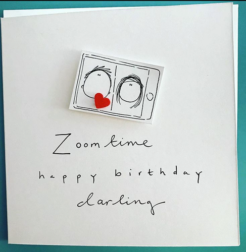 Zoom Time Happy Birthday Greeting Card