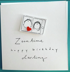 Zoom Time Happy Birthday Greeting Card - WH021