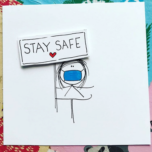 Stay Safe Greeting Card