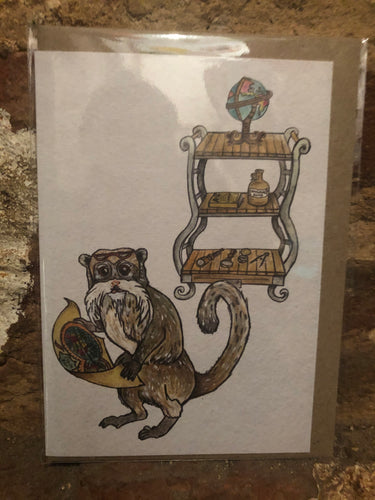 The Cartographer Greeting Card