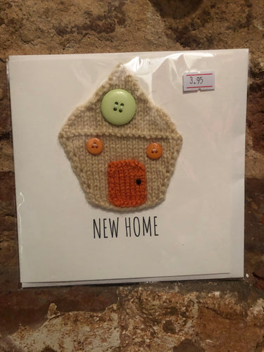 New Home Knitted Greeting Card - PUG004