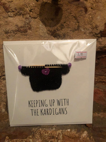 Keeping Up With The Cardigans Knitted Greeting Card - PUG003