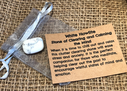 White Howlite - Stone of Clearing and Calming the Mind - Miss Pretty London UK Limited
