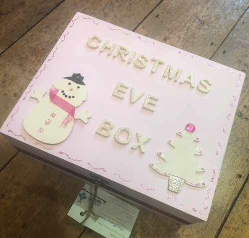 Handmade Pink Christmas Eve Box