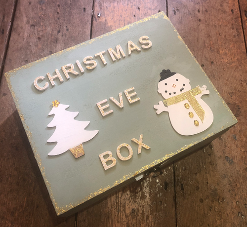 Handmade Green Christmas Eve Box