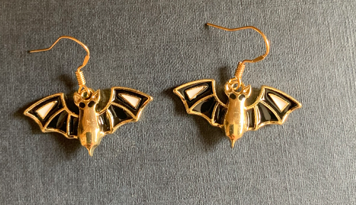 Handmade Bat Enamel Earrings - E025