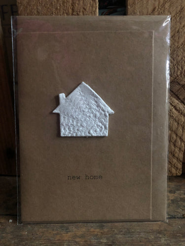 Clay Handmade New Home Greeting Card - CNH
