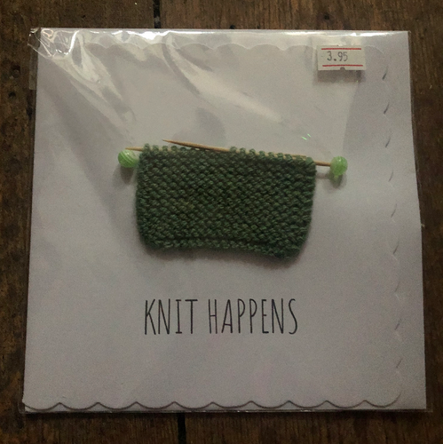 Knit Happens Knitted Greeting Card - PUG032