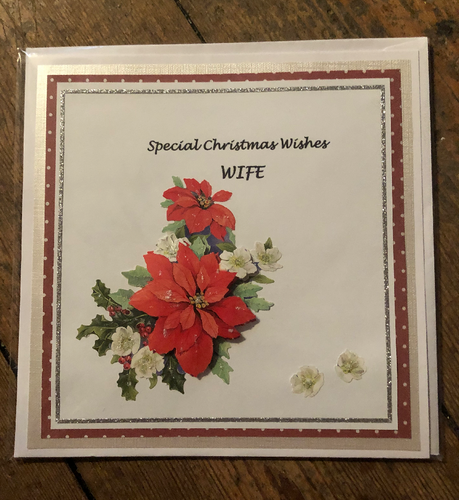 Christmas Wishes Wife Christmas Greeting Card - CMC0012