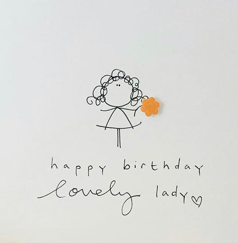 Happy Birthday Lovely Lady Greeting Card - WH013