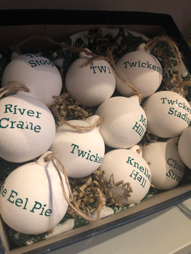 TW1 and TW2 Theme Christmas Baubles - Sold Individually