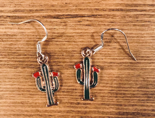 Cactus Enamel Earrings - D013