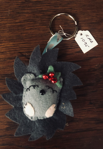 Handmade Grey Woodland Animal Keyring - RAB1095
