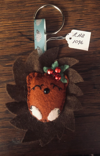 Handmade Brown Woodland Animal Keyring - RAB1096