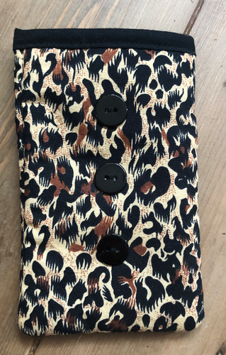 Animal Print Mobile Phone Sock Pouch