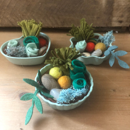 Mini Crystal Felt Zen Garden - Moonstone - Miss Pretty London UK Limited