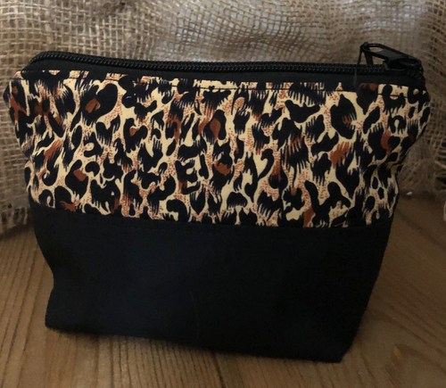 Handmade Cotton Toiletry Makeup Bag - Animal Print - Miss Pretty London UK Limited