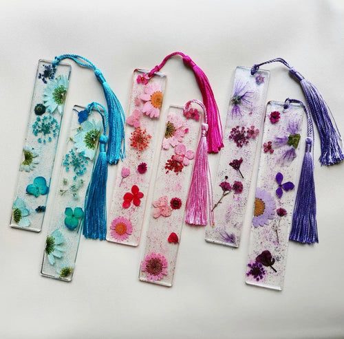 Handmade Dried Resin Flower Bookmarks - Miss Pretty London UK Limited