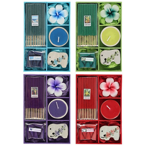 INCENSE GIFT SET WITH TEALIGHT CANDLE - Miss Pretty London UK Limited