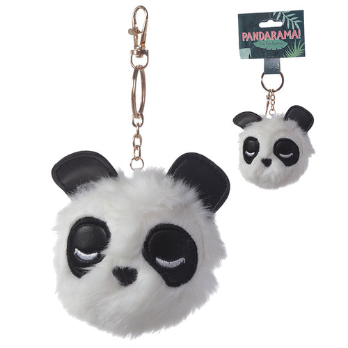Fun Collectable Pom Pom Keyring - Panda