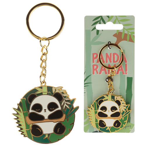 Fun Collectable Panda Enamel Keyring