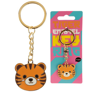 Fun Collectable Cute Tiger Enamel Keyring - Miss Pretty London UK Limited