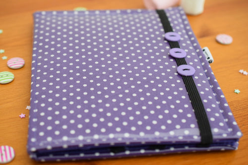 Mini Purple Polka Dot E-Reader Case - Miss Pretty London UK Limited