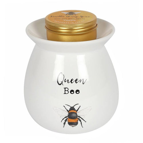 LARGE QUEEN BEE WAX MELT BURNER GIFT SET