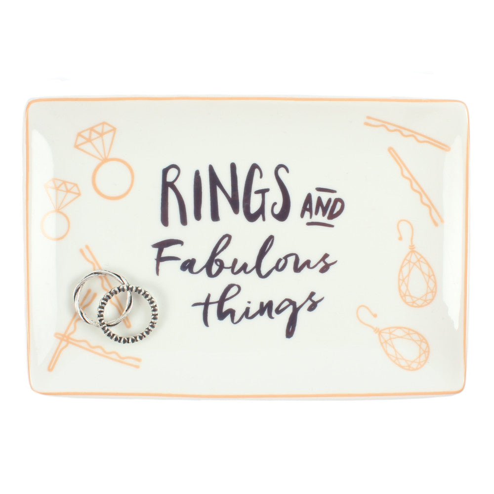Rings and Fabulous Things Jewellery Dish - Miss Pretty London UK Limited