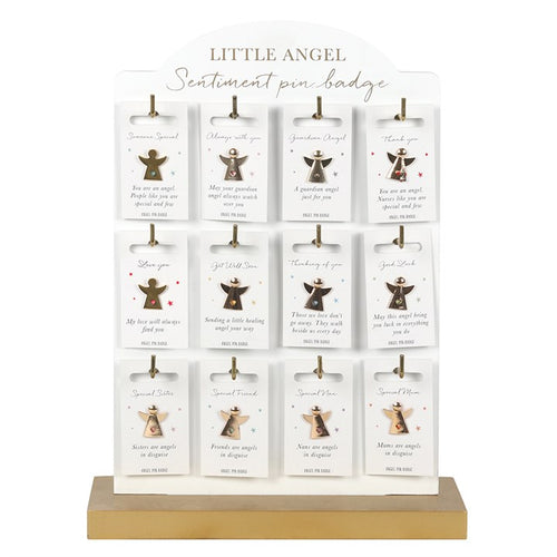 LITTLE ANGEL SENTIMENT PIN BADGES - Miss Pretty London UK Limited