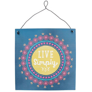 LIVE SIMPLY SIGN - Miss Pretty London UK Limited