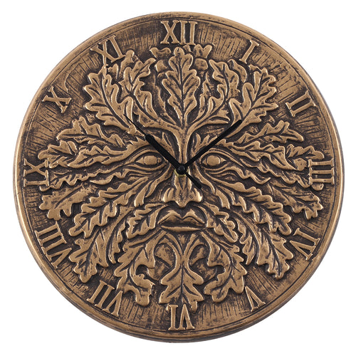Terracotta Green Man Clock by Lisa Parker - Miss Pretty London UK Limited