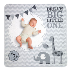 "Lillian Rose ""Dream Big"" Elephant Baby Blanket with Milestone Cards - Miss Pretty London UK Limited"