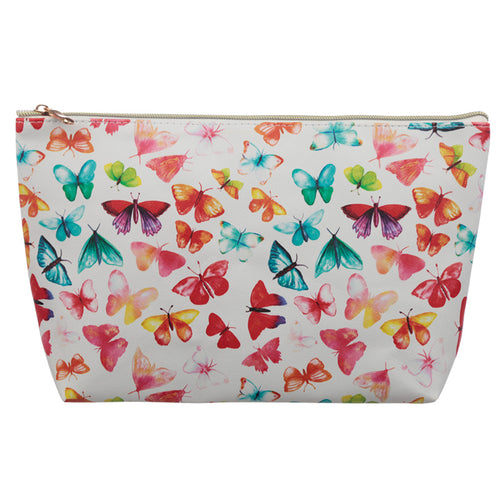 Large PVC Make Up Toiletry Wash Bag - Butterfly House - Miss Pretty London UK Limited