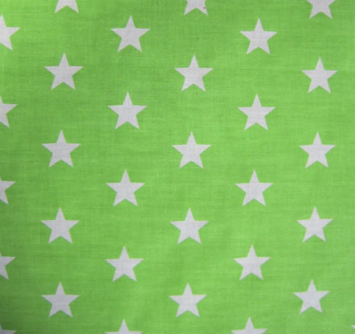 Large_Lime_Green_Stars_Print_PolyCotton_Fabric